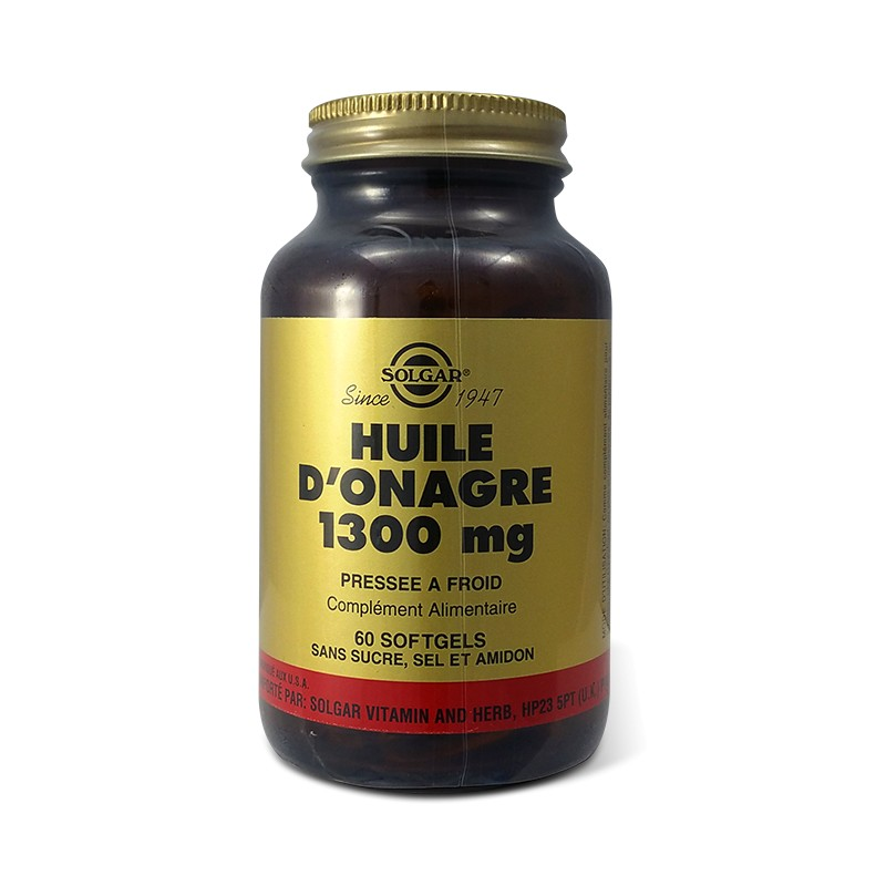 solgar huile d 39 onagre 1300 mg acides gras essentiels 60 softgels. Black Bedroom Furniture Sets. Home Design Ideas
