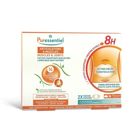 Puressentiel Articulations & muscles 2 Patchs Chauffant bas du dos