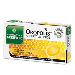 Mediflor Oropolis Propolis miel citron 20 pastilles adoucissantes