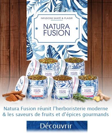 Nutrisanté Natura Fusion réunit l'herboristerie moderne & les saveurs de fruits et d'épices gourmand