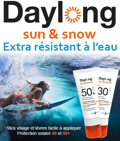 Daylong sun & snow - Extra résistant à l'eau, stick visage et lèvres facile à appliquer, protection